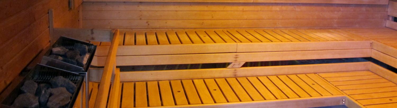 interiér sauny