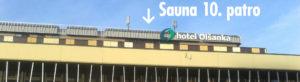 Sauna Praha v 10. patře.